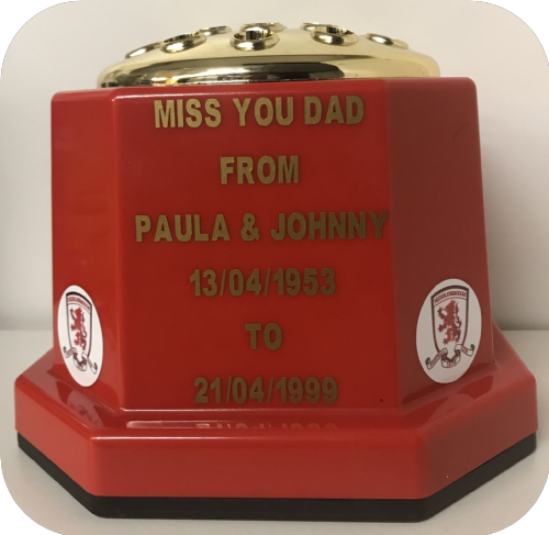Middlesbrough F. C. football personalised Grave pot (1)